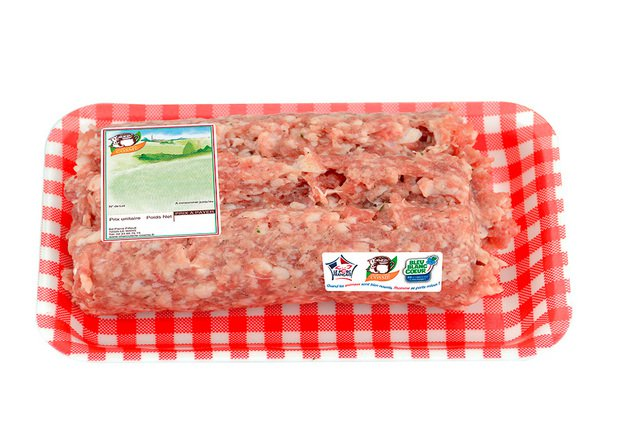 CHAIR A SAUCISSE NATURE (500G)